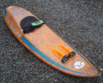 Current waveski surfed by Steve Cox