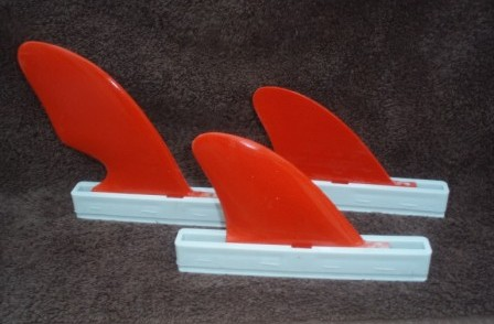 Custom Fibreglass Waveski Tri Fins